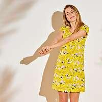 Blancheporte Nočná košeľa s potlačou kvetín žltá