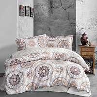 Blancheporte Obliečky bavlna Manila fialová béžová obliečka na vankúšikx40cm
