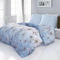 Blancheporte Obliečky bavlnený satén Loop modrá obliečka na vankúšikx40cm