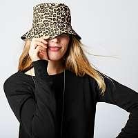 Blancheporte Obojstranný klobúk do dažďa leopardí vzor/čierna