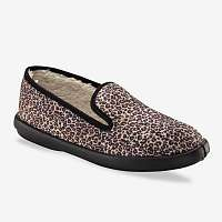 Blancheporte Papuče s kožušinou s leopardím vzorom béžová/gaštanová