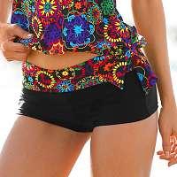 Blancheporte Plavkové boxerky s potlačou roziet s nastaviteľným pásikom viacfarebná