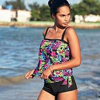 Blancheporte Plavkové tvarujúce boxerky, s potlačou džungĺa+čierna