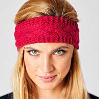 Blancheporte Pletená čelenka červená