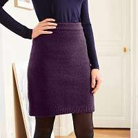 Blancheporte Pletená sukňa slivková