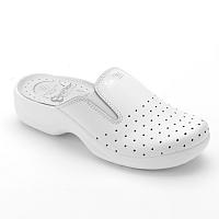 Blancheporte Pohodlné šľapky s pružnou vsadkou biela