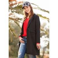 Blancheporte Polodlhý kabát čierna