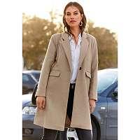 Blancheporte Polodlhý kabát gaštanová