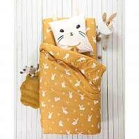 Blancheporte Posteľná bielizen Patty, bavlna žltá obliečka na vank. 65x65cm