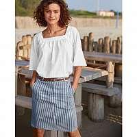 Blancheporte Pruhovaná rovná sukňa indigo/biela