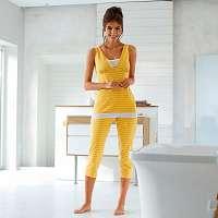 Blancheporte Pruhované 3/4 pyžamo žltá