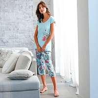 Blancheporte Pyžamo s 3/4 nohavicami, bavlna/modal potlač