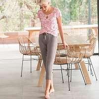 Blancheporte Pyžamo s 3/4 nohavicami, potlač sivá/ružová