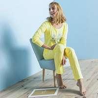 Blancheporte Pyžamo s dlhými rukávmi, bavlna, potlač Morning žltá