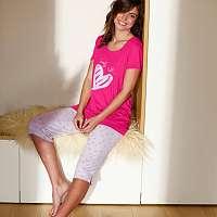 Blancheporte Pyžamo s korzárskými nohavicami a potlačou sŕdc fuksia