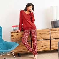 Blancheporte Pyžamo s kvetinovou potlačou terakota