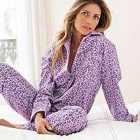 Blancheporte Pyžamo s leoparďou potlačou lila