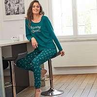 Blancheporte Pyžamo s potlačou listov zelená