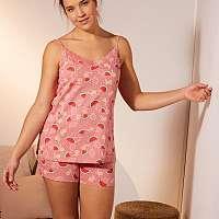 Blancheporte Pyžamo so šortkami a potlačou ovocia koralová
