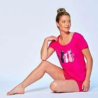Blancheporte Pyžamo so šortkami, motív mačiek fuksia