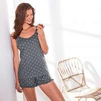 Blancheporte Pyžamo so šortkami, potlač motýlikov sivá antracitová