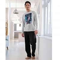 Blancheporte Pyžamo Star Wars sivý melír/čierna 77/86 (S)