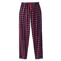 Blancheporte Pyžamové nohavice s kockovaným vzorom nám.modrá/červená 72/74