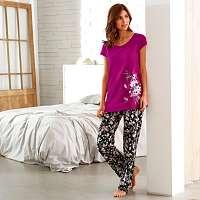 Blancheporte Pyžamové nohavice s potlačou kvetín potlač kvety