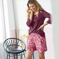 Blancheporte Pyžamové šortky s potlačou purpurová/ružová