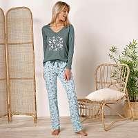 Blancheporte Pyžamové tričko s dlhými rukávmi a stredovou potlačou bronzová