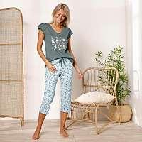 Blancheporte Pyžamové tričko s krátkymi rukávmi a stredovou potlačou bronzová