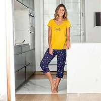 Blancheporte Pyžamové tričko s krátkymi rukávmi s potlačou Estrella žltá