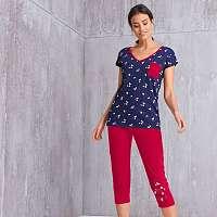 Blancheporte Pyžamové tričko s potlačou a krátkymi rukávmi nám.modrá