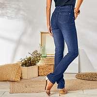 Blancheporte Rovné džínsy zapratý vzhľad, ekologické spracovanie tmavomodrá