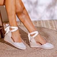 Blancheporte Sandále na kline, strieborné striebristá