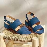Blancheporte Sandále z koženej usne, námornícky modré nám.modrá