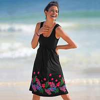 Blancheporte Šaty s okrúhlym výstrihom a potlačou čierna