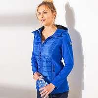 Blancheporte Softshellová bunda s dlhými rukávmi modrá