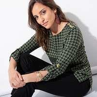 Blancheporte Tričko s potlačou zelená/čierna