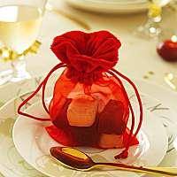 Blancheporte Vrecká na malé darčeky, sada 12 ks červená