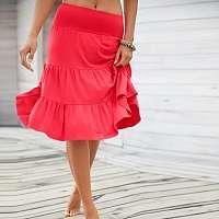 Blancheporte Vzdušná volánová sukňa červená