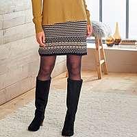 Blancheporte Žakárová sukňa čierna/béžová
